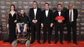 Mariano Barroso , Nara Novas, Rafael Portela, Alberto Garzon, Pablo Casado y Pablo Echenique en los Premios Goya
