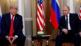 Donald Trump y Vladimir Putin en la cumbre entre EEUU y Rusia de Helsinki, en julio de 2018.