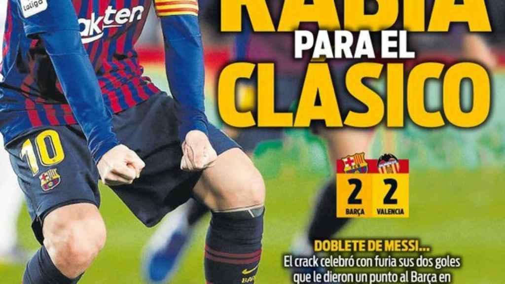 Portada del diario Sport (03/02/2019)