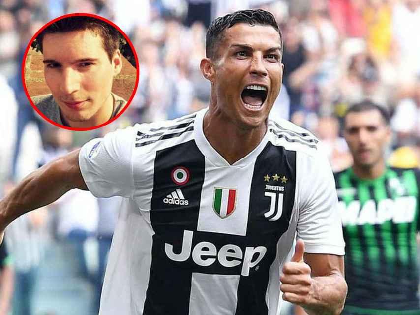El hoy delantero de la Juventus, Cristiano Ronaldo,  fue uno de los objetivos del `hacker'.
