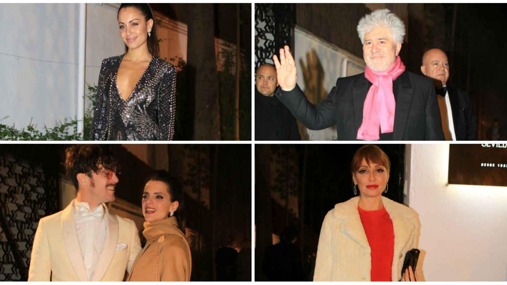 Algunos de los invitados a la fiesta posterior a los Goya 2019 en un montaje JALEOS