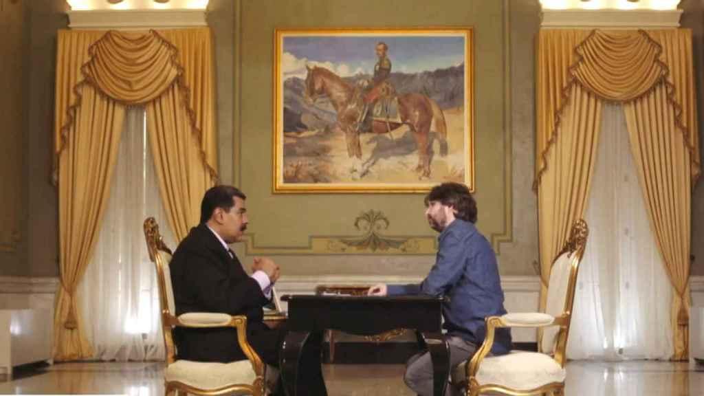 Nicolas Maduro y Jordi Évole en el Palacio de Miraflores.
