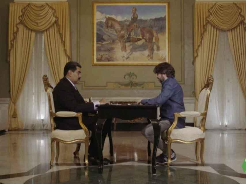 Un momento de la entrevista de Jordi Évole a Nicolás Maduro.