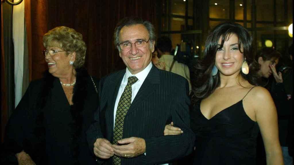 Vanessa junto a sus padres, Manolo Escobar y Anita Marx.