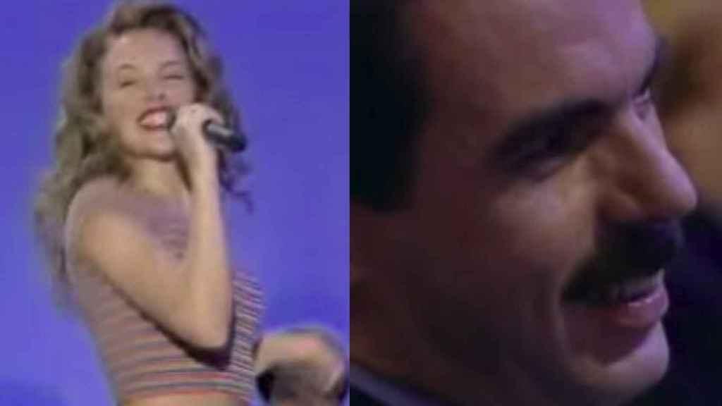 Aznar fue el único que parecía disfrutar del recital de Kylie