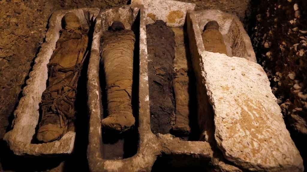 Las momias halladas en Tuna al Gabal.