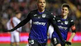 Braithwaite celebra su gol en el Rayo Vallecano - Leganés de La Liga