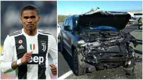 Douglas Costa sufre un espectacular accidente de coche en Italia
