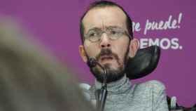 Pablo Echenique, secretario de Organziación de Podemos, en rueda de prensa.