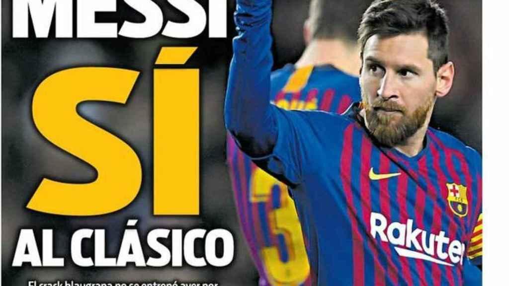 Portada Diario Sport (4/02/2019)