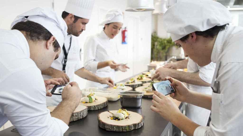 Los alumnos del Basque Culinary Center en una de sus clases.