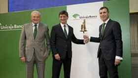 Manuel Azuaga, presidente de Unicaja Banco; Enrique Sánchez del Villar, CEO.