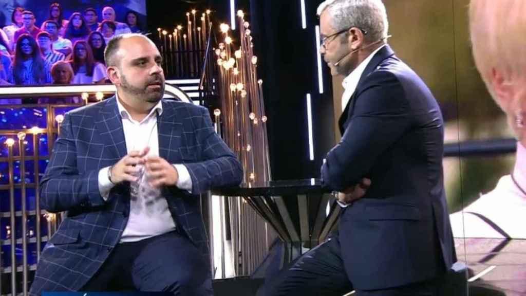 El empresario durante la entrevista de Jorge Javier.
