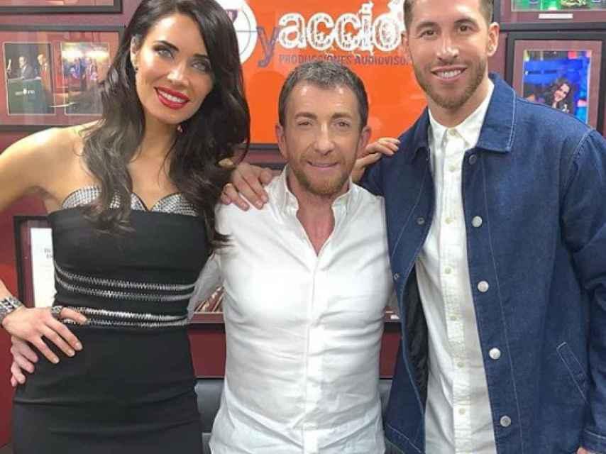 Pilar Rubio, Pablo Motos y Sergio Ramos.