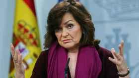 Calvo, durante su comparecencia este miércoles en La Moncloa