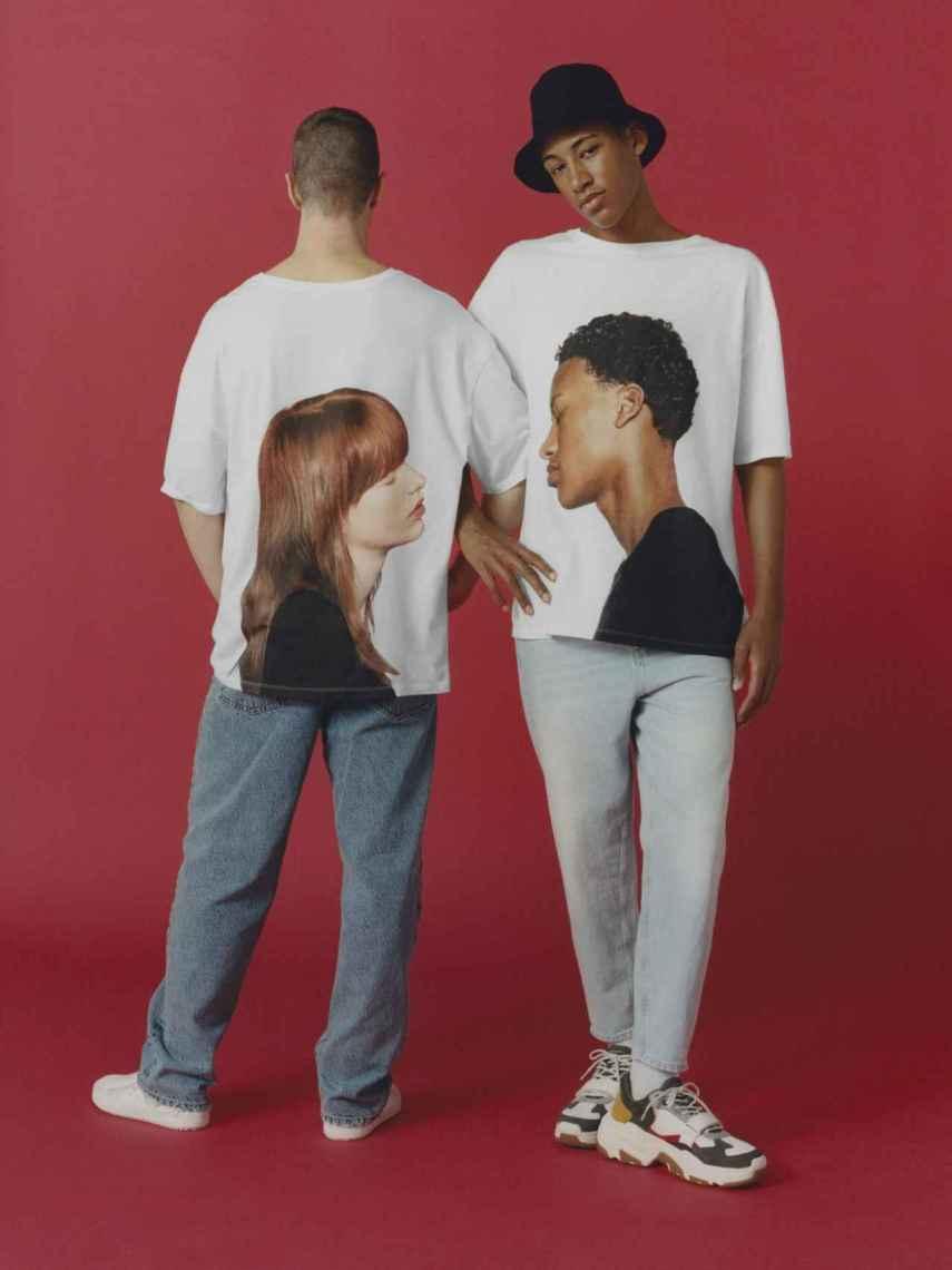 Camisetas de Bershka.