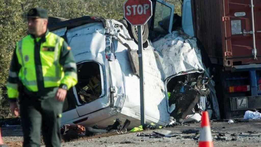 Estado en el que quedaron ambos vehículos tras el accidente.