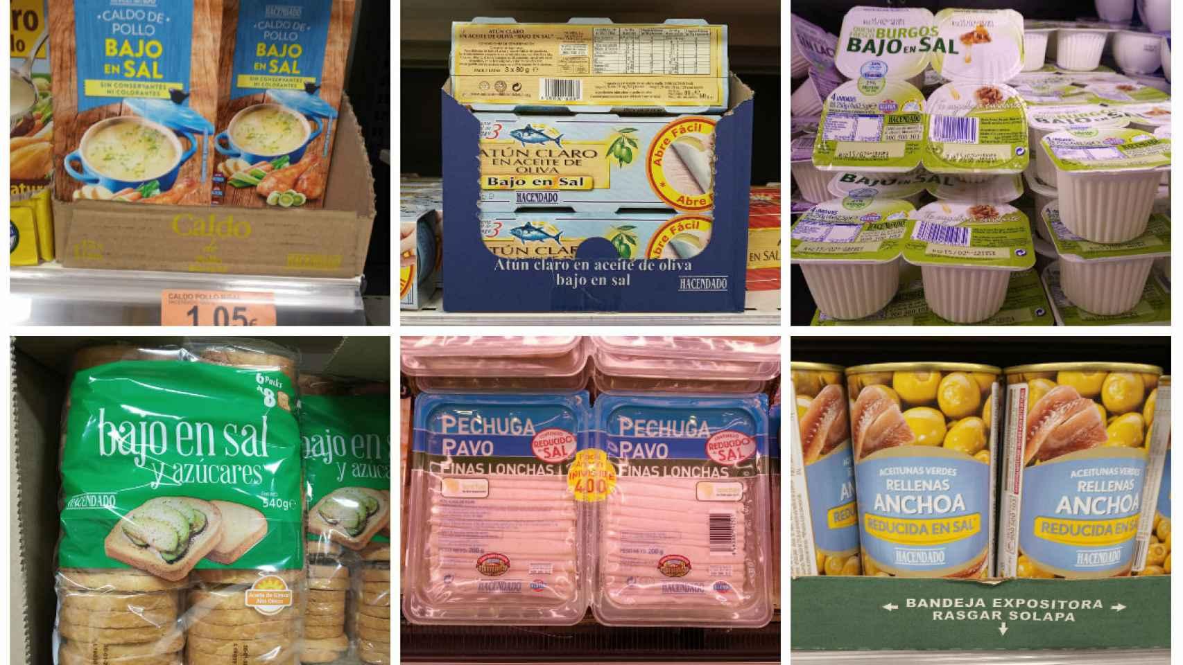 Productos Reducidos Bajos O Sin Sal De Mercadona
