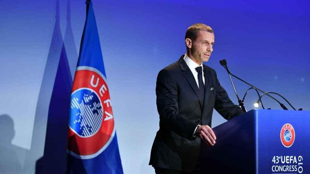 Aleksander Ceferin. Foto: Twitter (@UEFA)