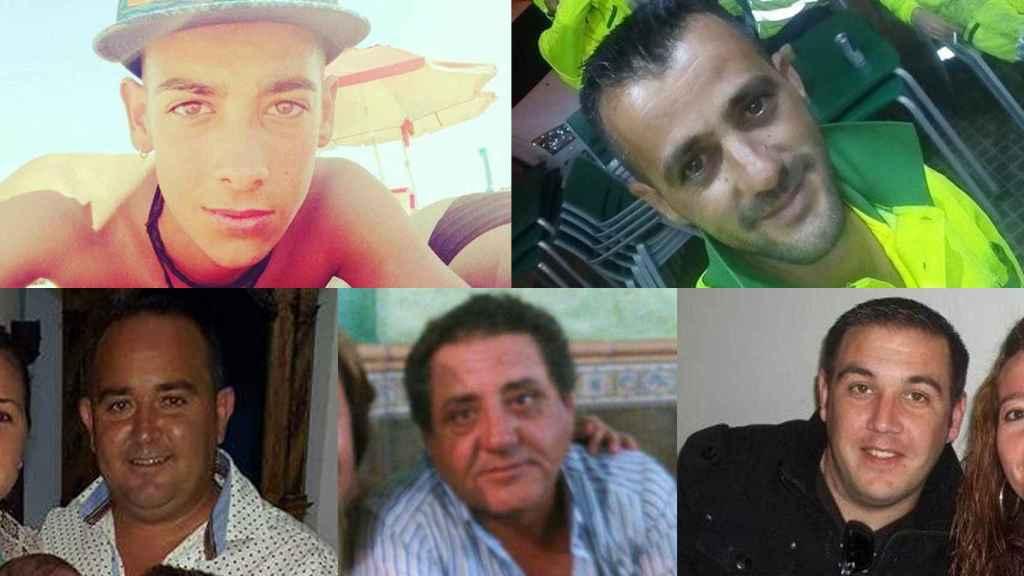 Las víctimas del accidente de Utrera