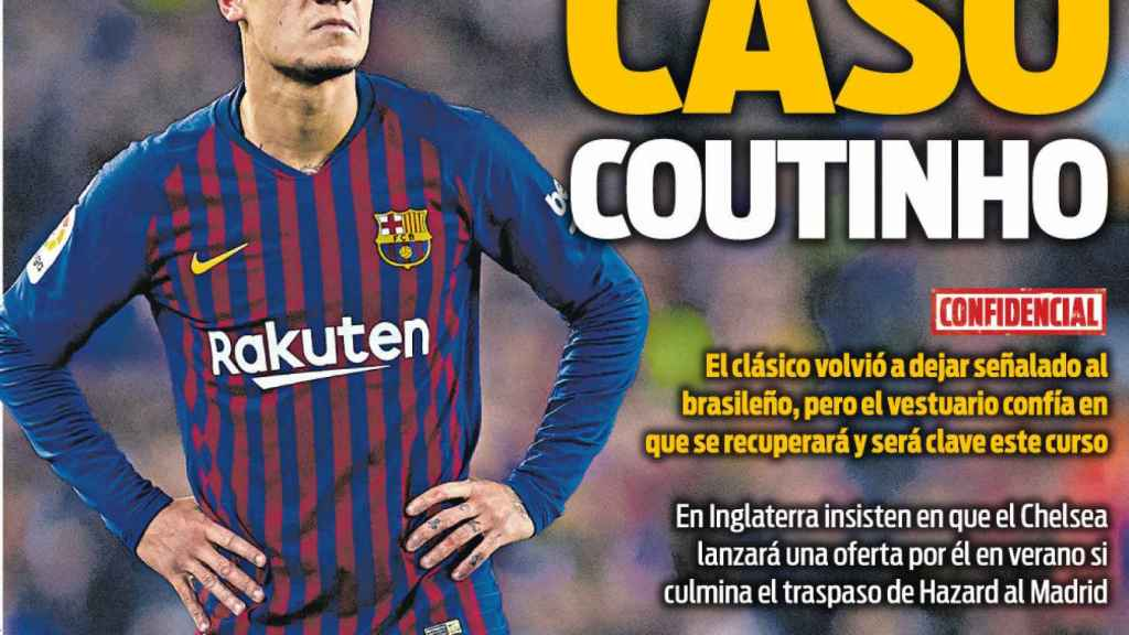 La portada del diario Sport (08/02/2019)