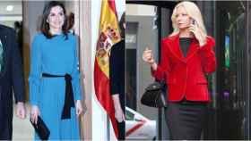 La reina Letizia y la diseñadora Lidia Faro.