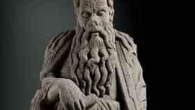 Escultura de Abraham, obra del Maestro Mateo