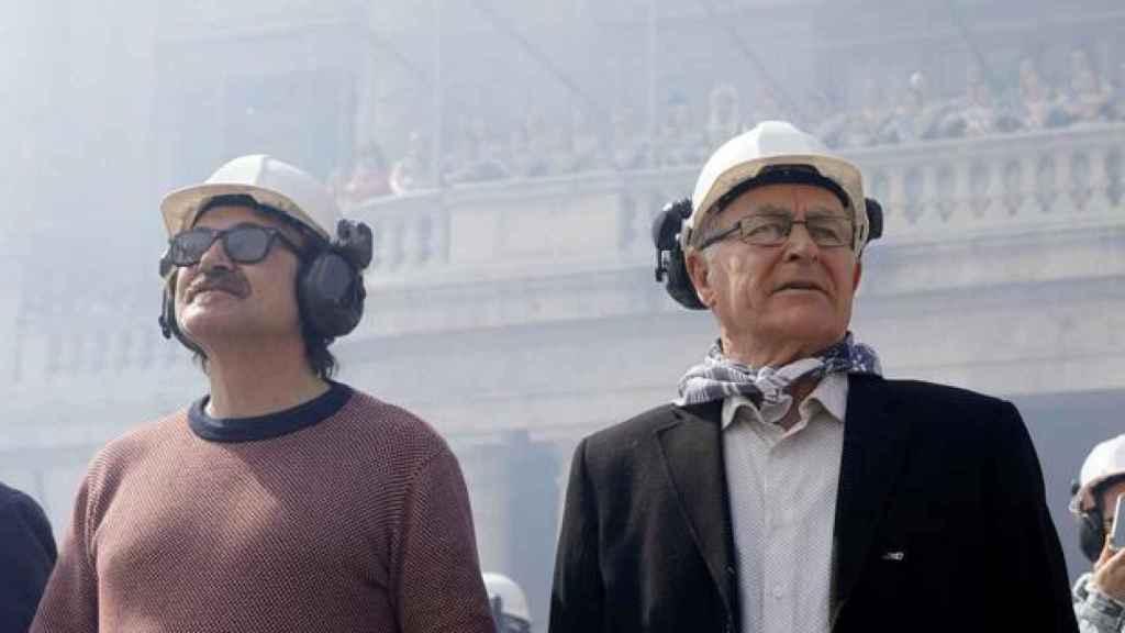 Grezzi, a la izquierda, junto al alcalde de Valencia, Joan Ribó.