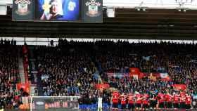 Imagen de Emiliano Sala en el estadio del Southampton