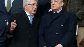 Enrique Cerezo y Florentino Pérez, en el palco del Wanda Metropolitano