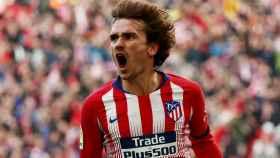 Griezmann celebra el empate del Atlético de Madrid