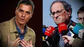 Pedro Sánchez y Quim Torra, este sábado.