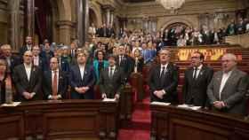 El Parlamento catalán, tras declarar la independencia el 27 de octubre de 2017./