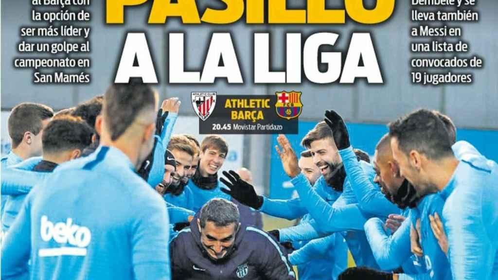 La portada del diario Sport (10/02/2019)