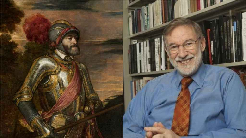El emperador Carlos V y el historiador Geoffrey Parker.