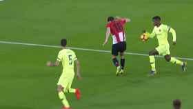 El Athletic pidió penalti por mano de Semedo