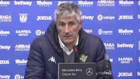 Quique Setién en la rueda de prensa posterior al Leganés 3-0 Betis