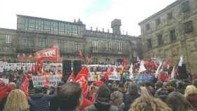 Ciudadanos se manifiesta en Santiago de Compostela