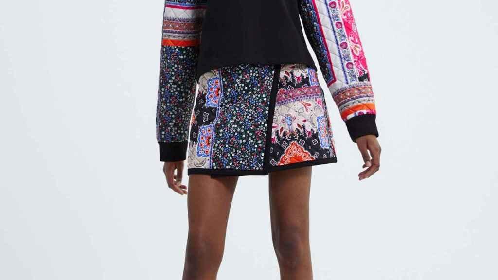 Una minifalda de Zara.