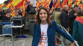 Andrea Levy en la manifestación de Colón