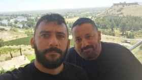 Pepón Nieto y Álvaro Fernández en un viaje a Extremadura.