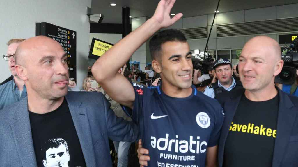 Hakeem Al Araibi en su llegada a Australia