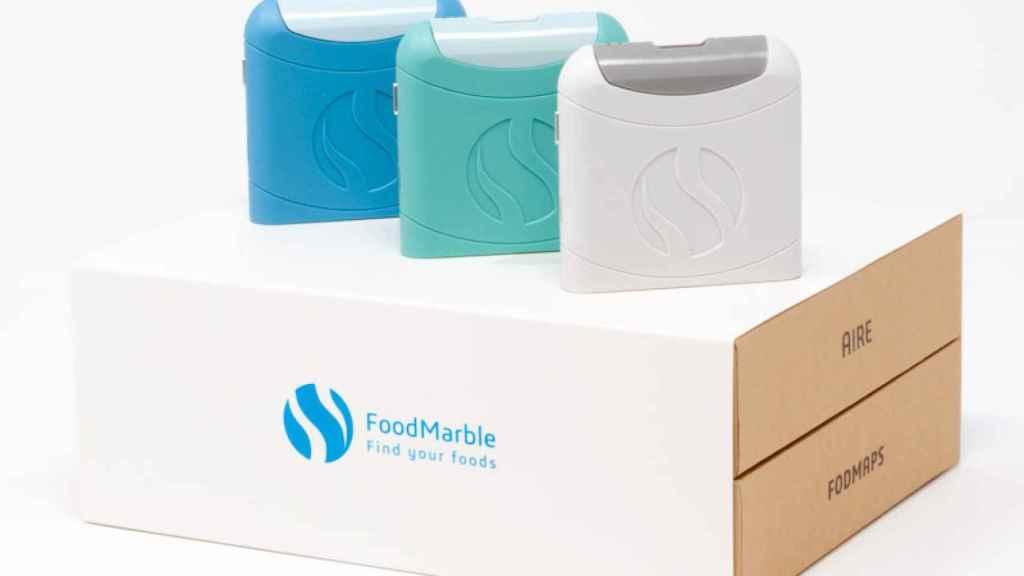 Este aparato de FoodMarble tiene el tamaño de una pitillera y analiza componentes que te harían daño en los intestinos.