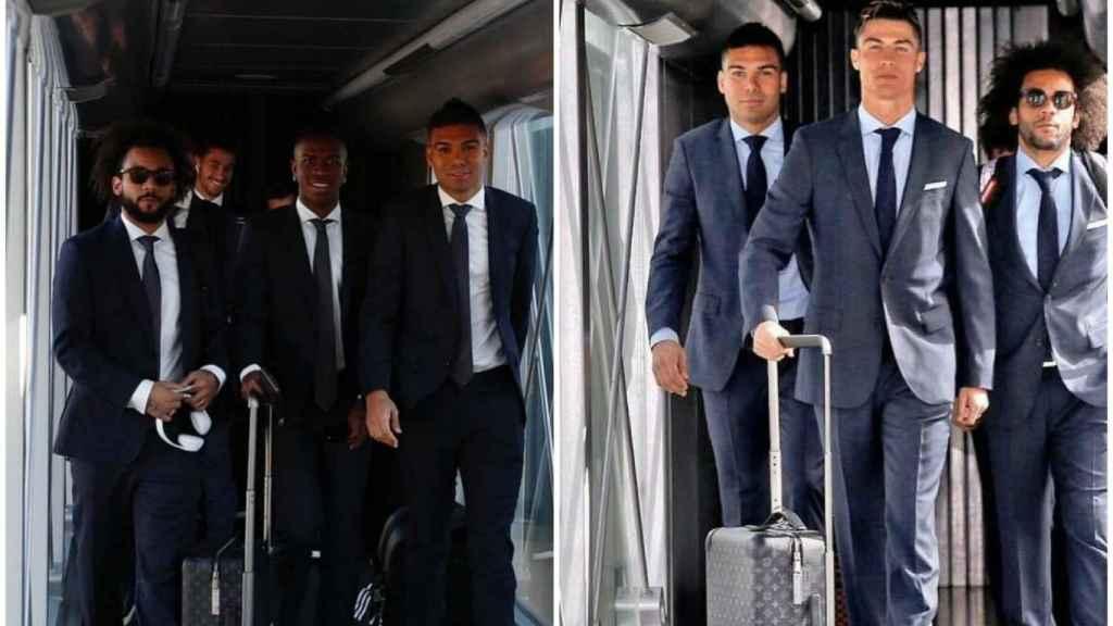 Montaje que incluye a Casemiro, Marcelo, Vinicius y Cristiano Ronaldo
