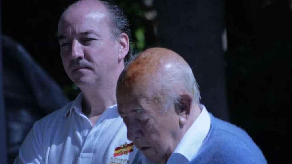 El exministro franquista José Utrera-Molina junto a su hijo Luis Felipe.
