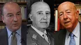 De izquierda a derecha: El abogado Luis Felipe Utrera-Molina,  el dictador Francisco Franco y el exministro franquista José Utrera-Molina.