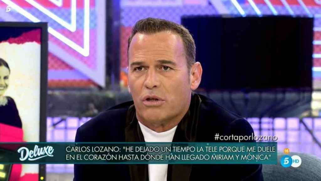 Carlos Lozano en su última intervención en 'Sábado Deluxe'