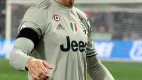Cristiano Ronaldo en un partido de la Serie A