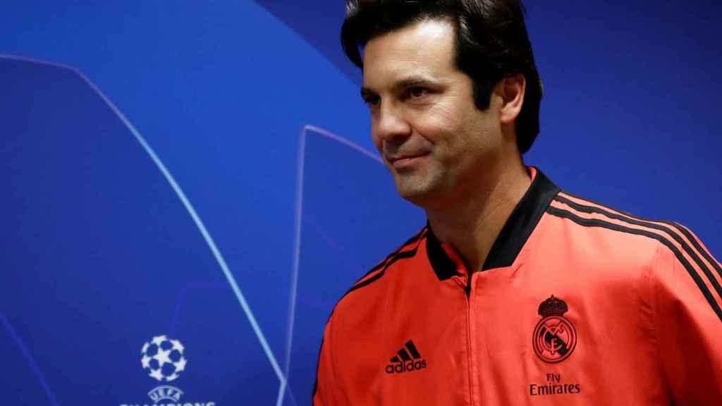 Solari, en rueda de prensa previa de la Champions