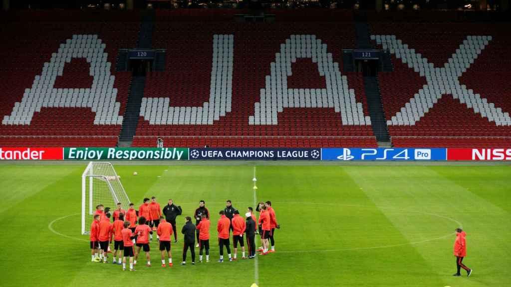 Entrenamiento del Real Madrid en el Johan Cruyff Arena